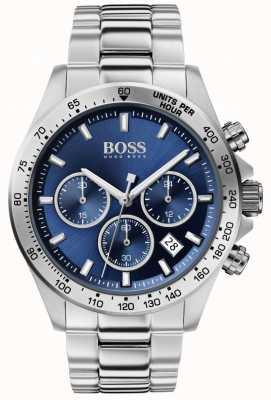 Boss | herrenheld sport lux | Stahlband | blaues Zifferblatt | 1513755
