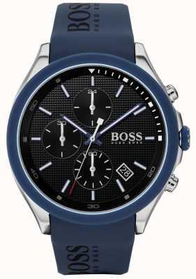 BOSS | Männergeschwindigkeit | blaues Kautschukband | schwarzes Zifferblatt | 1513717
