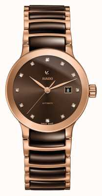 Rado | centrix diamonds automatic | High-Tech-Keramik | braun R30183752