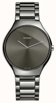 Rado | wahre dünne Linie | graues keramik armband | graues Zifferblatt | R27955122