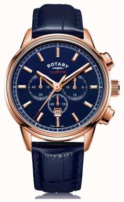 Rotary | Herren Cambridge Chronograph | blaues Zifferblatt | blaues Leder | GS05399/05