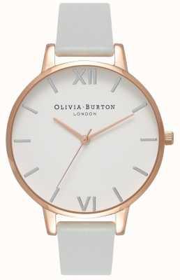 Olivia Burton | Frauen | großes zifferblatt | grauer veganer Gurt | OB16BDV02
