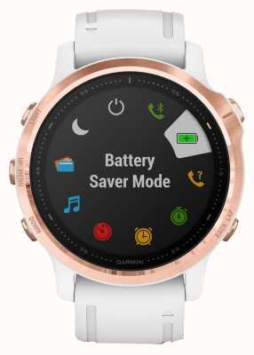Garmin Fenix 6s pro | Multisport-Smartwatch | roségoldweißes Armband 010-02159-11