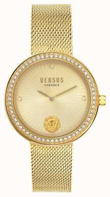 Versus Versace | Frauen léa | goldgeflecht armband | goldenes Zifferblatt | VSPEN0819