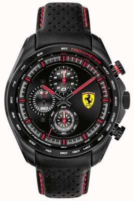 Scuderia Ferrari | Speed-Racer für Herren | schwarzes Lederband | schwarzes Zifferblatt | 0830647