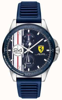 Scuderia Ferrari | Männerpiloten | blaues Kautschukband | blaues Chronographenzifferblatt | 0830660