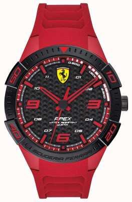 Scuderia Ferrari | Herrenspitze | rotes Kautschukband | schwarz / rotes Zifferblatt | 0830664