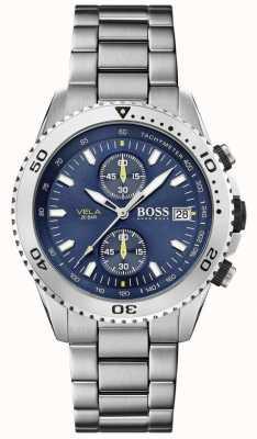 Boss   vela   Chronograph   Stahlband   blaues Zifferblatt   1513775