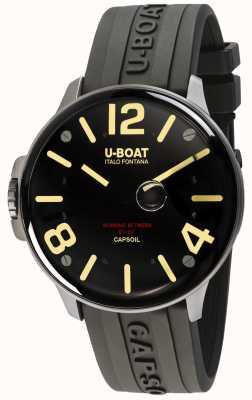 U-Boat Capsoil ss Elektromechanik | schwarzes Kautschukband 8110/A