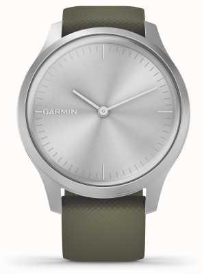Garmin Vivomove 3 style | silbernes Aluminiumgehäuse | Moos Silikonband 010-02240-01