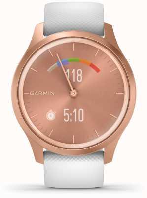 Garmin Vivomove 3 style | Roségold Aluminiumgehäuse | weißer Riemen 010-02240-00