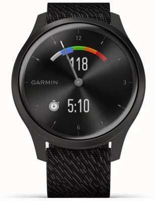 Garmin Vivomove 3 style | Graphit Aluminiumgehäuse | schwarzer Riemen 010-02240-03