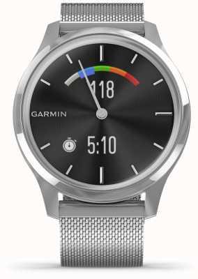 Garmin Vivomove luxe | Edelstahlgehäuse | Silber Milanese Band 010-02241-03