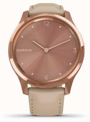 Garmin Vivomove 3 luxe | 18 Karat Roségold PvD Fall | italienisches Leder 010-02241-01