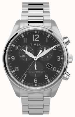 Timex | waterbury traditioneller chrono 42mm | rostfreier Stahl TW2T70300