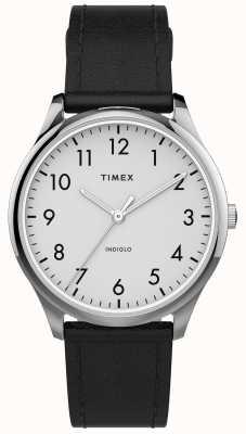 Timex | easy reader 32mm | schwarzes Lederband | weißes Zifferblatt | TW2T72100