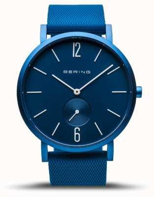 Bering | wahre Aurora | blaues Kautschukband | blaues Zifferblatt | 16940-799