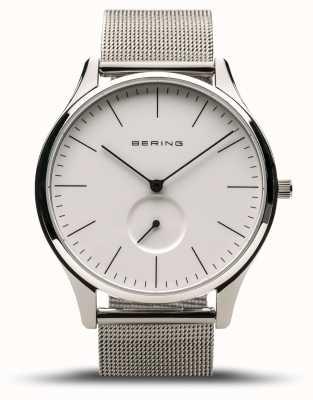 Bering | klassisch | Herren Silber poliert | stahlgeflecht armband | 16641-004
