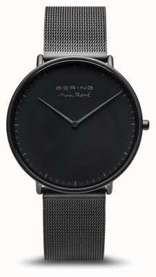 Bering   max rené   Herrenmatte schwarz   schwarzes Stahlband   15738-123