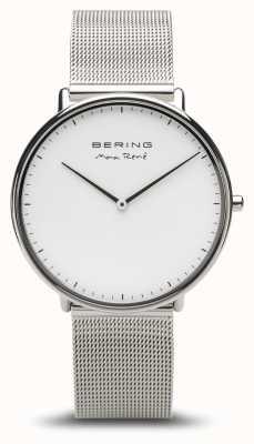 Bering   max rené   Herren Silber poliert   silbernes mesh armband   15738-004