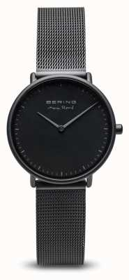 Bering | max rené | Damenmatte schwarz | schwarzes stahlgitter armband | 15730-123