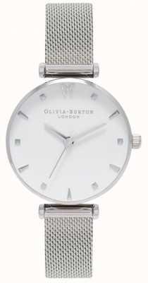 Olivia Burton | Frauen | sozialer schmetterling weißes Zifferblatt | Mesh-Armband OB16MB12