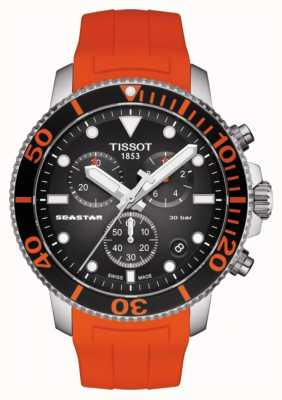 Tissot | seastar 1000 chronograph | orangefarbener Riemen | 300 m T1204171705101