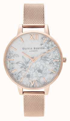 Olivia Burton | Frauen | Terrazzoblumen | Roségold-Mesh-Armband | OB16TZ04