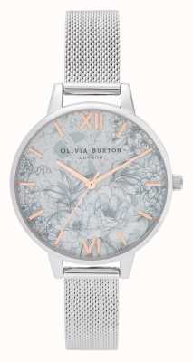 Olivia Burton | Frauen | Terrazzoblumen | silbernes mesh armband | OB16TZ06
