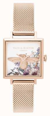 Olivia Burton | Frauen | verzauberter Garten | 3d Biene | roségoldes Netz | OB16EG152