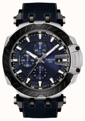 Tissot | t-race | automatischer Chronograph | blaues Kautschukband | T1154272704100