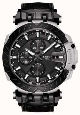 Tissot | t-race | automatischer Chronograph | schwarzes Lederband | T1154272706100