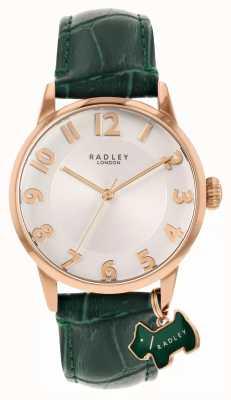 Radley Liverpool Straße | grünes Lederband | weißes Zifferblatt | RY2870