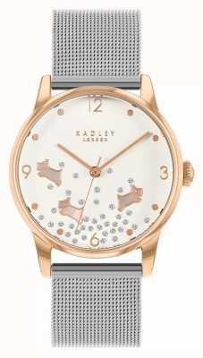 Radley Ditsy Hundeglitter | silbernes mesh armband | silbernes Zifferblatt | RY4405