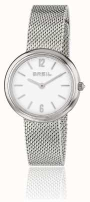 Breil Iris weißes Zifferblatt Edelstahlgewebe Armband TW1776
