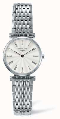 Longines Eleganz klassisches Silberband | weißes Gesicht | L42094716
