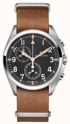 Hamilton Khaki Luftfahrt | Pilot Pionier | Chronograph | braunes Leder H76522531