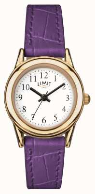 Limit Damen lila Armband weißes Zifferblatt 6982
