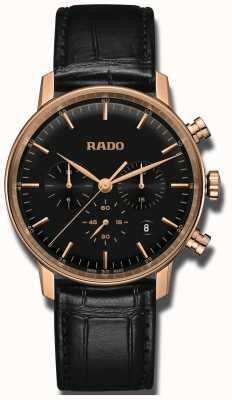 Rado Coupole Classic Quarz Chronograph schwarzes Zifferblatt R22911165