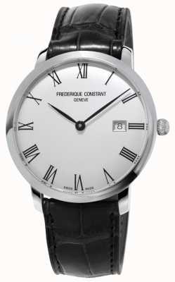 Frederique Constant Herren | schlank | automatisch | schwarzes Leder | silbernes Zifferblatt FC-306MR4S6