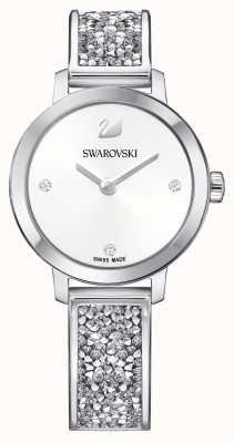 Swarovski | kosmischer Rock | Armreif aus Edelstahl | weißes Zifferblatt 5376080