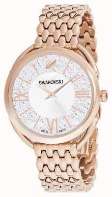 Swarovski | kristalliner Glam | rosé vergoldetes Armband | silbernes Zifferblatt 5452465