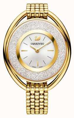 Swarovski Kristallin   oval   goldenes pvd armband   silbernes Zifferblatt 5200339