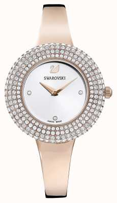 Swarovski | kristall rose | roségoldfarbenes Armband | silbernes Zifferblatt | 5484073