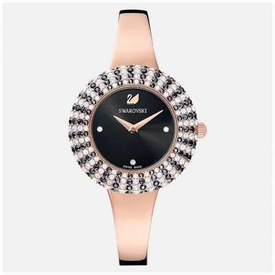 Swarovski Kristall rose mb pro / blk / pro   roségoldfarbenes Metallarmband   5484050