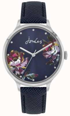 Joules Frauen payton | blaues Lederband | blaues florales Zifferblatt | JSL021U