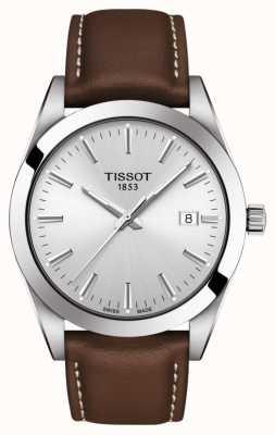 Tissot | Herr | braunes Lederband | silbernes Zifferblatt | T1274101603100