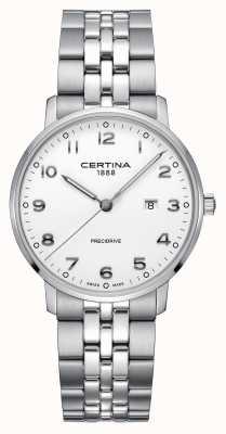 Certina | ds caimano | Edelstahl Silber Armband | weißes Zifferblatt C0354101101200