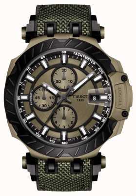 Tissot | T-Rennen | automatischer Chronograph | grünes Kautschukband | T1154273709100