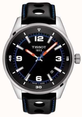 Tissot   alpin   schwarzes Lederband   schwarzes Zifferblatt   T1236101605700